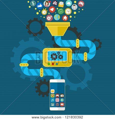 App development for mobile phone.
