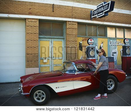 A Late 50S Chevrolet Corvette, Lowell, Arizona