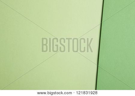 Colored Cardboards Background In Green Tones. Copy Space.