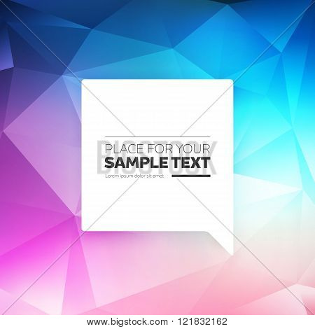 Abstract Vector Triangle Shape Background