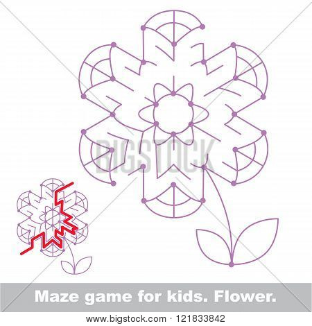 Summer maze game. Search the way. Help to fihd the solution. Kid labyrinth game.