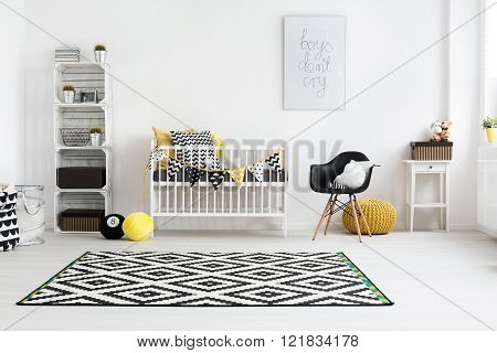 Shot of a modern baby room, horizontal