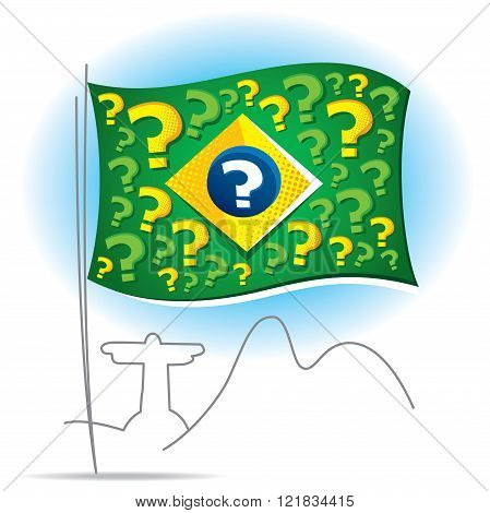 Brazil flag and many questions about the future