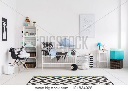 Picture of a modern baby room, horizontal