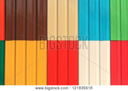 Colorful Sheet Metal Roofs