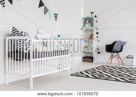 Shot of a spacious children's room, horizontal