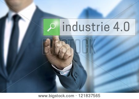 industry 4.0 in german industrie browser is operated by businessman