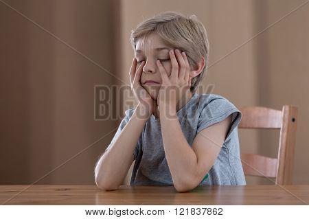 Schoolboy Feeling Tired