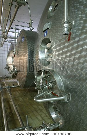 industrial liquid storage tanks and pipes