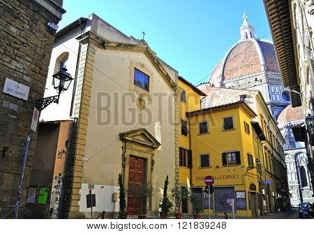 FLORENCE ITALY - SEPTEMBER 12: Duomo del Fiore cathedral and city centre of Florence on September 12 2010. Florence is a capital of Tuscany and one of largest cities of Italy.