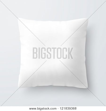 Blank white square pillow / cushion vector illustration