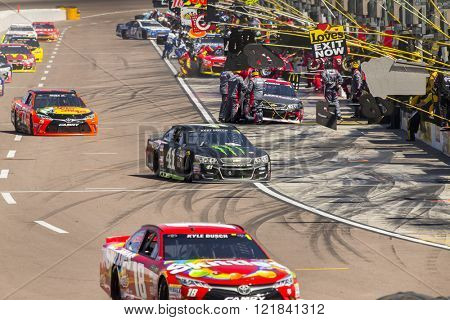 Avondale, AZ - Mar 13, 2016: The NASCAR Sprint Cup teams take to the track for the Good Sam 500 at the Phoenix International Raceway in Avondale, AZ.