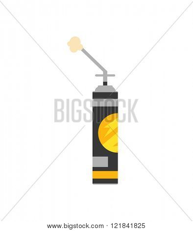 Construction foam flat vector container illustration.