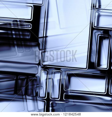 art abstract geometric monochrome pattern; glass textured blurred background in blue violet, black and white colors