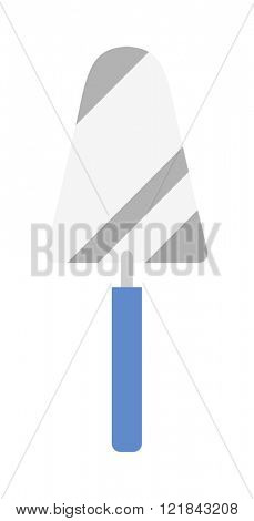 Putty knife worker equipment vector illustration isolated on white.