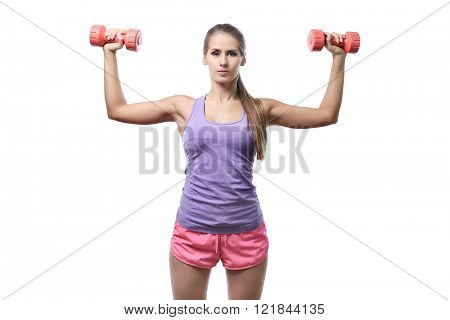 Workout. Woman in the gym