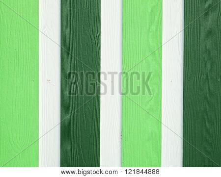 Green And White Wood Board At Wall Texture Background