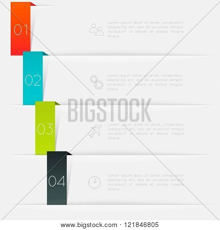 Vector Colorful Text Box, Trendy Colors.