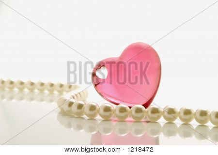 Pink Heart And Pearls
