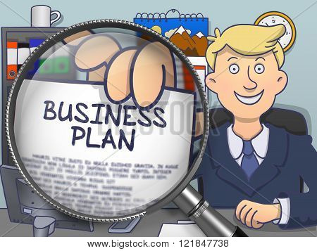 Business Plan through Lens. Doodle Style.