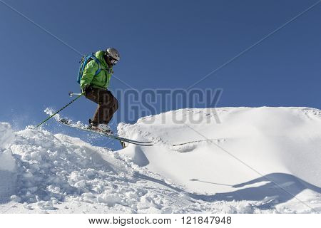 Freestyle Skiing Jumping