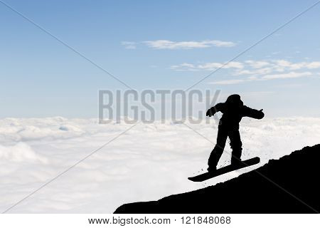 Freestyle Snowboarder Silhouette