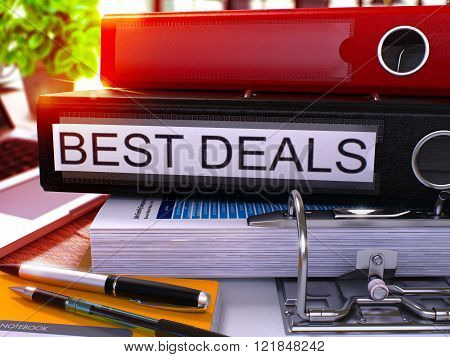 Black Office Folder with Inscription Best Deals.