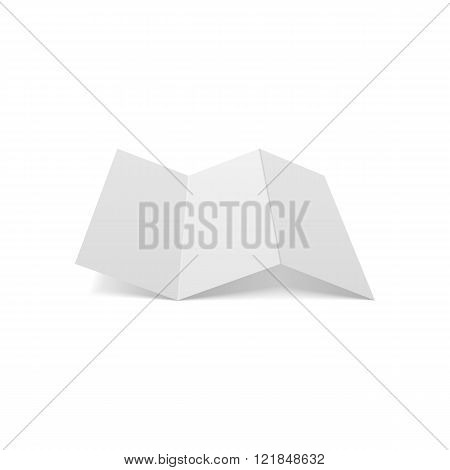 Trifold empty Paper Sheet Mockup