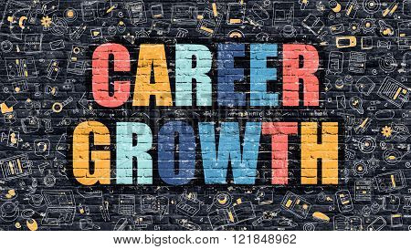 Career Growth in Multicolor. Doodle Design.