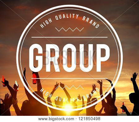 Group Gang Unity Community Band Company Concept