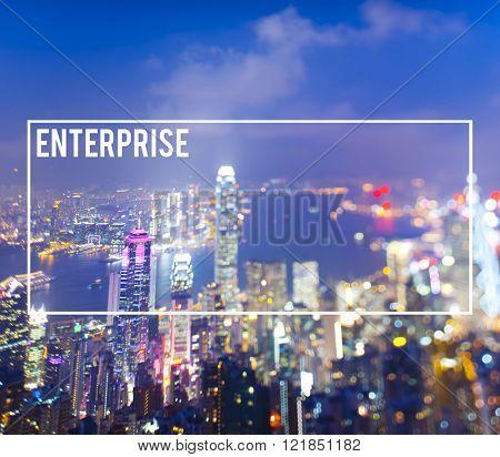Enterprise Franchise Cityscape Building Urban Concept