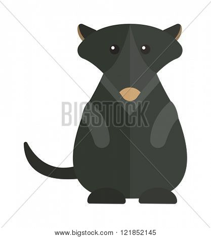 Australia groundhog mammal animal and Australia groundhog coming sprig holiday symbol. Cute Australia groundhog funny cartoon character of marmot flat vector illustration.