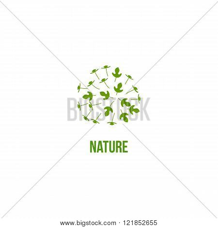 Nature  Icon with lot of leaves