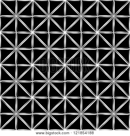 Vector modern seamless geometry pattern square black and white abstract