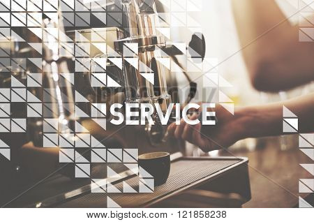 Service Support Helpdesk Helping Assistance Concept