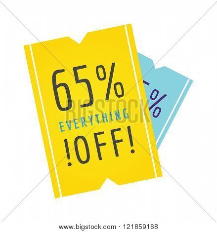 Promotion price offer tag sale banner and sale banner element symbol. Sale banner discount label design flat vector illustration.  Mega-sale offer for web site