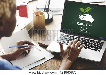 Earth Day Environmental Conservation Website Online Concept