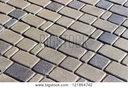 Abstract background of cobblestones making from stone blocks
