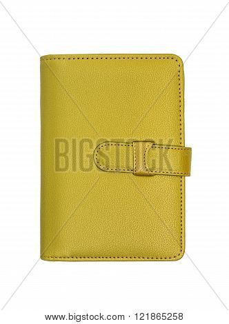 Gold Notebook Isolated On White