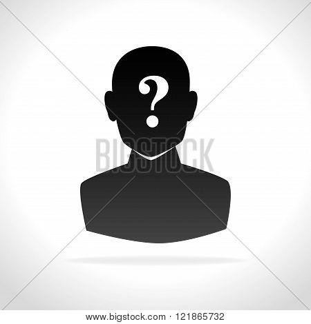 confused person design