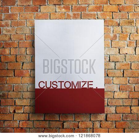 Customize Brick Creativity Design Business Concept