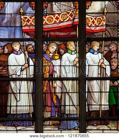 Catholic Procession - Stained Glass