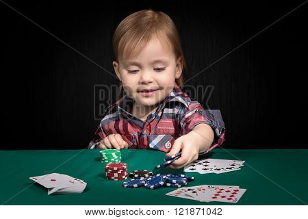 Child bets in poker