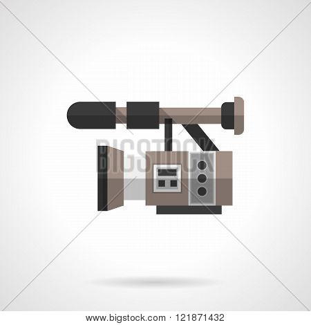 Filming equipment flat color design vector icon