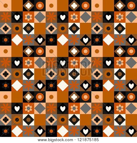 Quilting pattern seamless vector