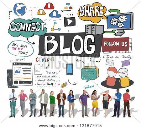Blog Social Media Networking Content Blogging Concept