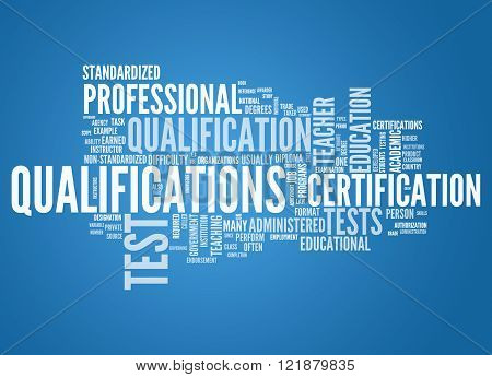 Image Picture Word Cloud with Qualifications related tags