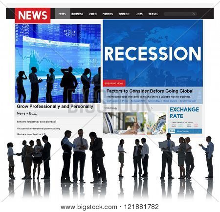 Recession Fail Crisis Crash Depression Frustration Concept