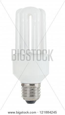 Classic white energy saving light bulb lamp