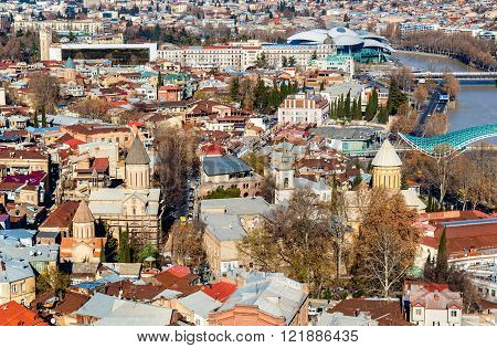 Orthodox churches in the old town of Tbilisi
